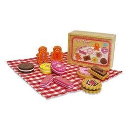 11 Stück Tee Party Set - Holz Kekse Kinderküche - Kinderküche Zubehör Holz Kaufladen Zubehör - Lucy Locket