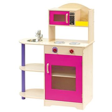 Bino 83723 - Kinderküche mit Mikrowelle, Küchenspielzeug