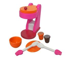 Classic Kinder - Espressomaschine Kaffeemaschine mit Tasse Untertasse Kaffeekapseln Holzspielzeug für die Kinderküche