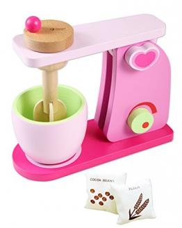 Classic Kinder Küchenmaschine Mixer Teigmaschine Rührgerät Rührer Holzspielzeug für die Kinderküche