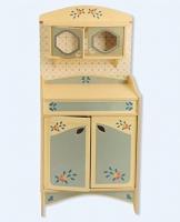 Dida - Spielküche, Geschirrschrank, Teil der zusammensetzbaren Küche aus Holz für Kinder, komplette Höhe 77 cm, Höhe bis zur Arbeitsfläche 46 cm ,auch einzeln verkaufbar.
