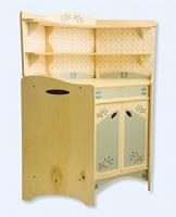 Dida - Spielküche, Küchenmöbel für die Zimmerecke, Teil der zusammensetzbaren Küche aus Holz für Kinder, komplette Höhe 77 cm, Höhe bis zur Arbeitsfläche 46 cm, auch einzeln verkaufbar.