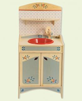 Dida - Spielküche, Spülbecken, Teil der zusammensetzbaren Küche aus Holz für Kinder, komplette Höhe 77 cm, Höhe bis zur Arbeitsfläche 46 cm, auch einzeln verkaufbar
