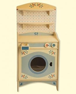 Dida - Spielküche, Waschmaschine, Teil der zusammensetzbaren Küche aus Holz für Kinder, komplette Höhe 77 cm, Höhe bis zur Arbeitsfläche 46 cm, auch einzeln verkaufbar.