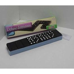 Domino Steine schwarz 28 tlg., schwarze Dominosteine mit weißen Punkten (LHS)