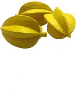 Estia 600508 Sternfrucht Karambole Holz für Kaufladen oder Kinderküche