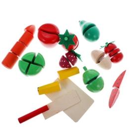 Gazechimp Kinder Rollenspiel, Früchte Gemüse Schneiden Spielset (12pcs)