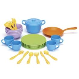 Green Toys 0793573454263 - Spiel Koch- und Essgeschirr