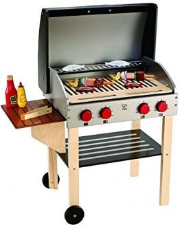 Hape E3127 - Gourmet Grill mit Zubehör, Holzspielzeug