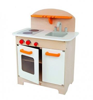 Hape Gourmet-Kinderküche, weiß inkl Starter-Set und Stickerblock
