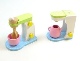 Haushaltsset: Küchenmaschine + Kaffeemaschine / Mixer mit drehbaren Rührstab, inkl. Rührschüssel Kaffeemaschine + Kaffekanne