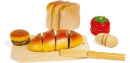 Holz Schneide Brot Kinderküche Kindergeschenk ab 3 Jahren