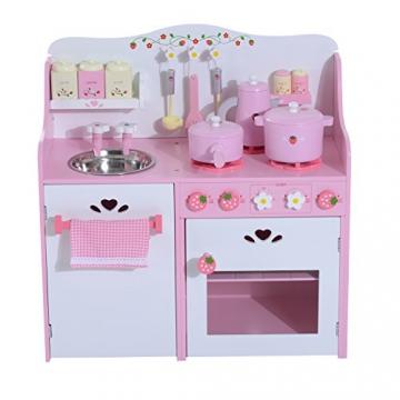 Homcom® Kinderküche Spielküche Spielzeugküche Kinderspielküche Spielzeug mit/ohne Zubehör/Fenster