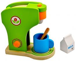 Idena 4100074 - Kleine Küchenmeister Kaffeemaschine aus Holz, 4 teiliges Set, circa 19 x 11 x 20 cm