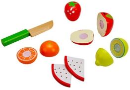 Idena 4100113 - Kleine Küchenmeister Obst - Mix aus Holz, 11 teiliges Set, circa 16 x 10 x 8 cm