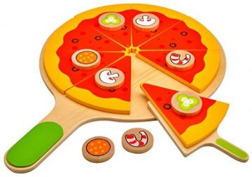 Idena 4100115 - Kleine Küchenmeister Pizza - Set inklusive Pizzaschieber aus Holz, 18 teilig, circa 28 x 28 x 3 cm