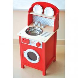 Indigo Jamm KIJ10058 Spielwaschmaschine in Rot aus Holz