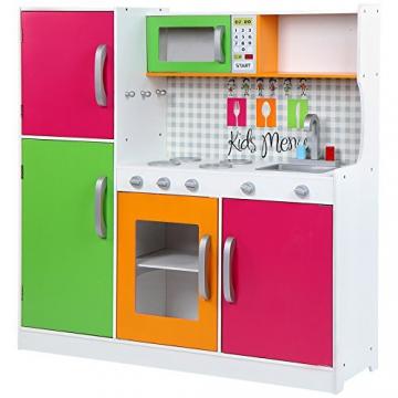 Infantastic Spielküche Kinderküche Kinderspielküche mit 4 Herdplatten, Ofen, Kühlschrank, Spülmaschine