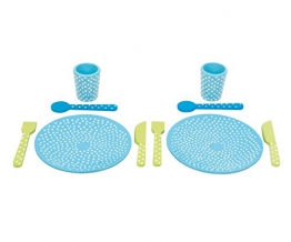 JaBaDaBaDo Spielzeug-Geschirrset aus Holz blau