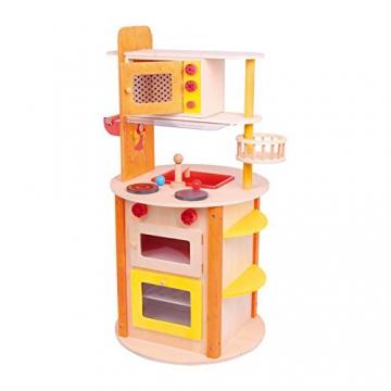 """Küche """"all in one Leonie"""" aus stabilem Holz, mit vielen Funktionen ausgestattet, verspricht rundherum kreatives Spielvergnügen auf kleinstem Raum, ein absoluter Traum für kleine Köche ab 3 Jahren"""