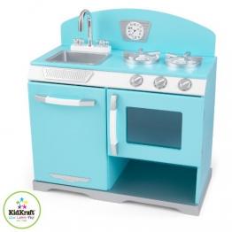 KidKraft 53252 - Blauer Kochherd aus Omas Zeiten