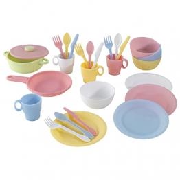 Kidkraft 63027 - 27-teiliges pastelfarbenes Koch-Set