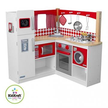 Kidkraft Rote Grand Gourmet Küchenecke 53225 aus Holz Red Kinderküche