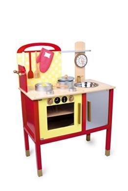 """Kinderküche """"Denise"""" aus Holz, wunderschönes, bunt lackiertes Design, realistisches Spielgefühl, mit allerlei Zubehör, ein Must-Have für kleine Köche ab 3 Jahre"""