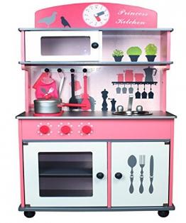 Kinderküche Spielküche aus Holz mit Zubehör ROSA - Chefküche ROSA Top Qualität aus MDF Platte W10C026P