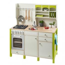 Kinderspielküche SALVIA aus Holz creme-grün