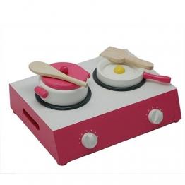 Koch Set Tischherd Kinderküche Spielküche mit Zubehör aus Holz