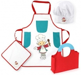 Kochset UNSER SANDMÄNNCHEN Schürze Küche Kinderküche Spielküche NEU 1179 OVP
