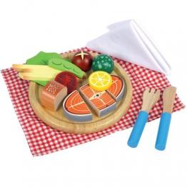 Lachs-Menü zum schneiden mit Beilage Kinderküche 640045