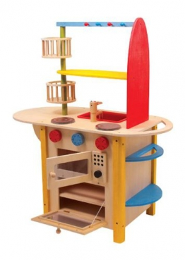 Legler Kinder Spielküche Holz Küche All in one Deluxe