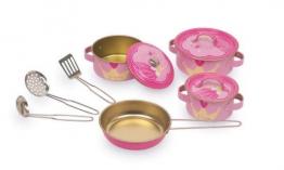 """Legler Kochgeschirr """"Josephine"""" aus Metall, 10-teiliges Set in einem königlichen Design, tolle Ergänzung für die Kinderküche"""