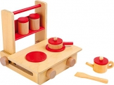 Legler small foot Kinderküche Mobile Küche ca. 32 x 18 x 3,5 cm -