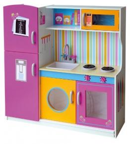Leomark Spielküche Kinderküche aus Holz Deluxe - Spielküche aus Holz