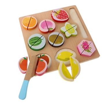 MagiDeal Kinder Holz Obst Schneiden Spielzeug