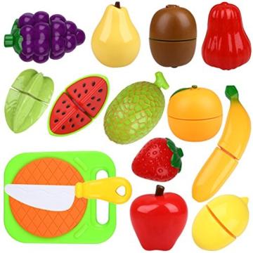 Peradix Schneideobst Obst Gem¨¹se Spielzeug Kunststoff mit Schneidebretter 14 PCs