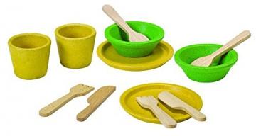 PlanToys 3605 Essgeschirr Set 12-tlg. für Kinderküche Holz