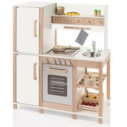 SUN Kinderküche Natur-Weiss aus Holz