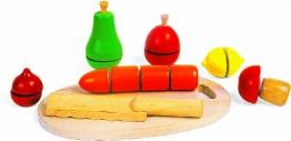 Set - Messer, Gemüse, Holz, Kinderküche,l 7121