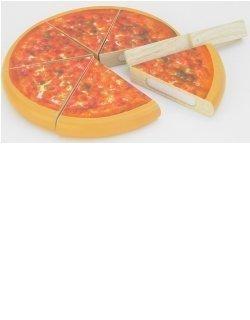 Schneide-Spiel Pizza schneiden Motorik-Set Holz 640028