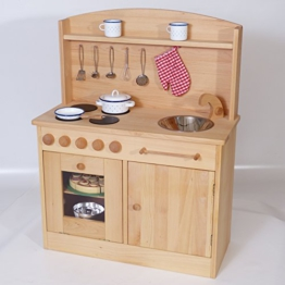 Spielküche 2024 | aus massivem Holz | Natürlich Ökologisch Kinderküche | Qualität von Holzspielzeug-Peitz