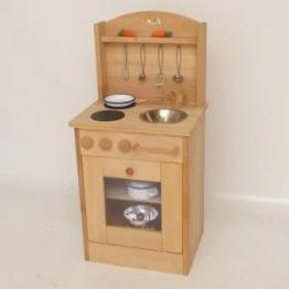 Spielküche Kinderküche 2014 aus massivem Buchenholz natur von Holzspielzeug-Peitz Neu