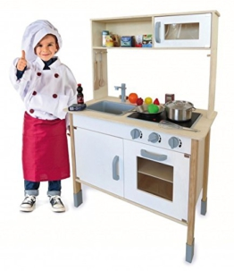 Spielküche Kinderküche aus Holz mit Aufsatz und viel Zubehör