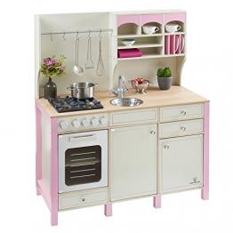 Spielküche SALVIA aus Holz creme-rosa MUSTERKIND®