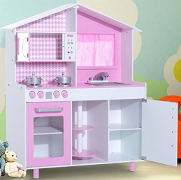 TZ-D1083 Große Kinderküche mit Theater Spielküche Holz Holzküche