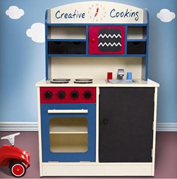 TZ-D1701 Spielküche Kinderküche aus Holz Deluxe