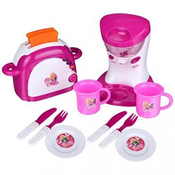 » Teamyy Kinderküche Toaster und Mixer Spielküche Set Rosa elektronisch mit Musik und Licht ...